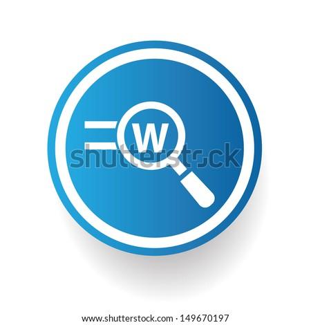 Search keyword symbol,vector - stock vector