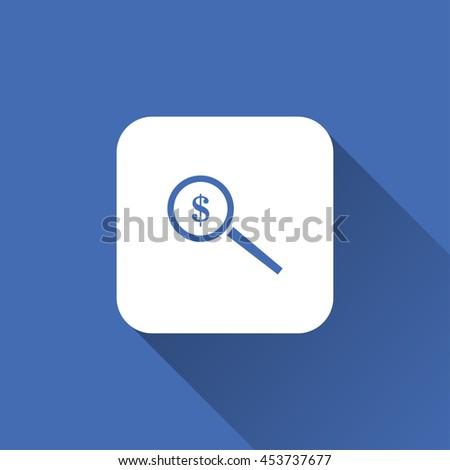 search money icon. flat design - stock vector