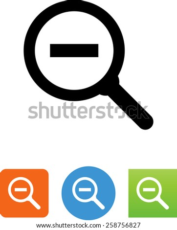 Search with minus sign symbol. Editable vector icons for video, mobile apps, Web sites and print projects. - stock vector