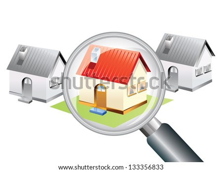 Searching for a new home concept - stock vector
