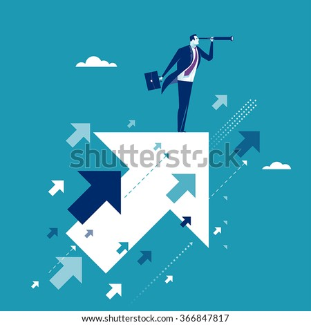 Searching for opportunities. Business concept - stock vector