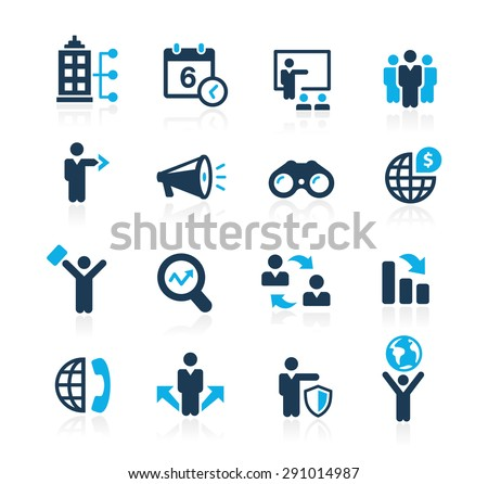 Searching Opportunities and Business Strategies // Azure Series - stock vector