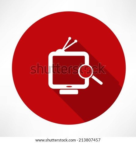 Searching Tv - stock vector