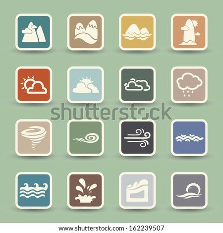 season icons  - stock vector