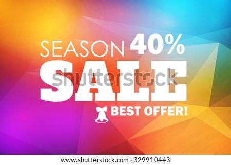Season Sale. Colorful Banner. Christmas Design. Vector illustration - stock vector