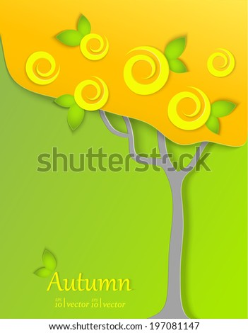 Seasons concept.Autumn card. - stock vector