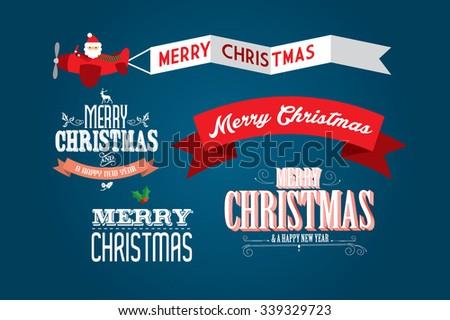 seasons greetings/christmas greetings template vector/illustration - stock vector