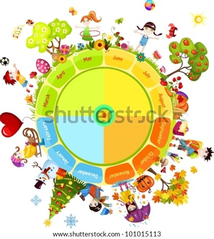 seasons of the year - stock vector