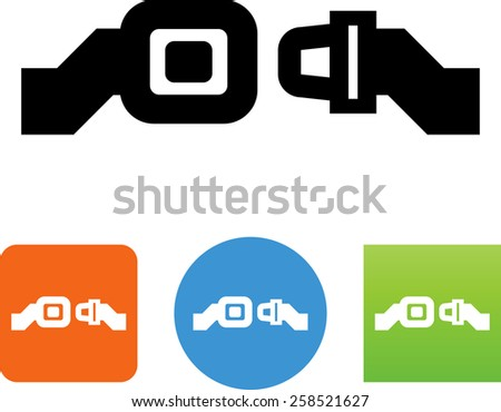 Seat belt symbol. Vector icons for video, mobile apps, Web sites and print projects.  - stock vector