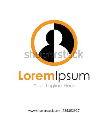 Secret profile identity icon simple elements logo - stock vector