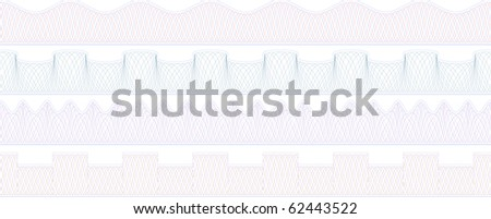 secure certificate border set of 4 elements - stock vector