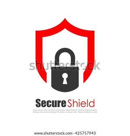 Secure protection abstract logo vector illustration isolated on white background - stock vector