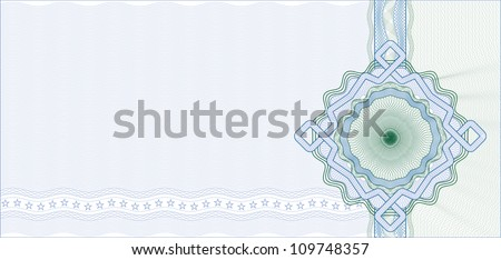 Secured Guilloche Background for Certificate, Voucher or Banknote / Vector - stock vector