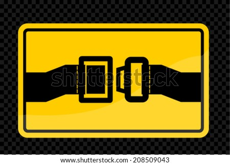 security belt, vector  - stock vector