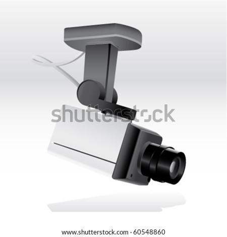security camera - stock vector