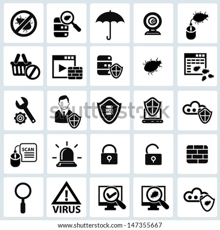 Security computer icons,vector - stock vector