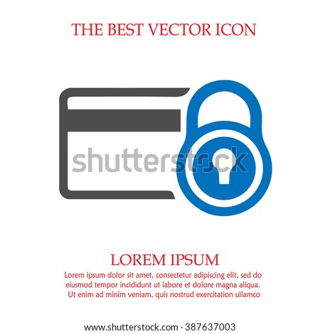 Security credit card simple isolated vector icon. - stock vector