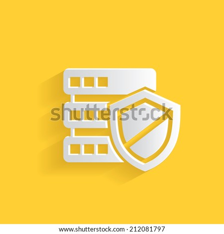 Security database symbol,clean vector - stock vector