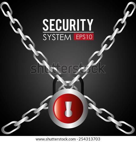 Security design, vector illustration. - stock vector