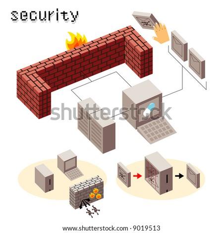 security icon - stock vector
