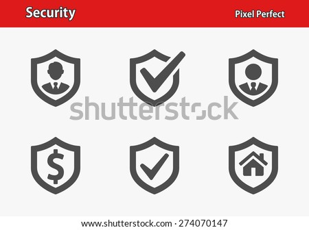 Security Icons. Professional, pixel perfect icons optimized for both large and small resolutions. EPS 8 format. - stock vector