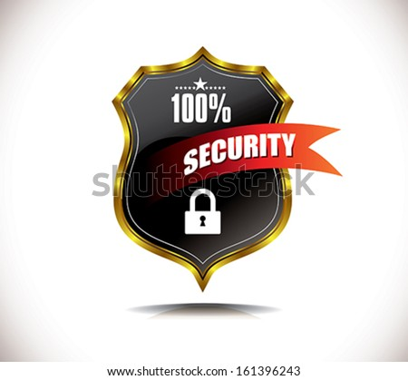 security label - stock vector