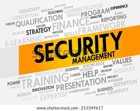 Security Management word cloud, business concept - stock vector