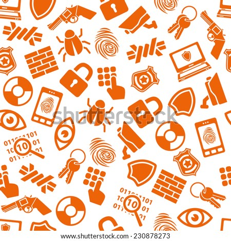 security seamless pattern - stock vector