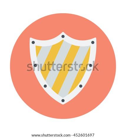 Security Shield Colored Vector Icon - stock vector