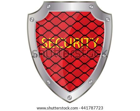 Security Shield.Vector - stock vector