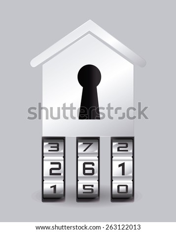 Security system design over gray background, vector illustration. - stock vector
