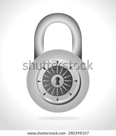 Security system design over white background, vector illustration. - stock vector
