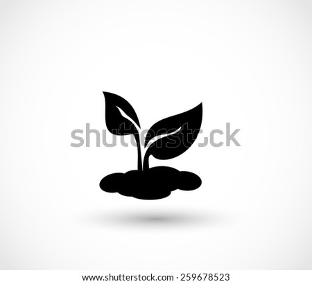 Seedling icon vector - stock vector