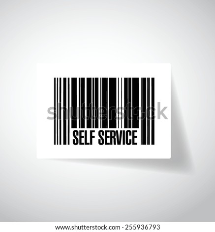 self service barcode illustration design over a white background - stock vector