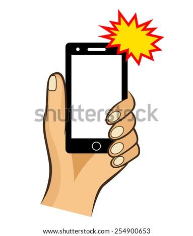 Selfie icon - stock vector