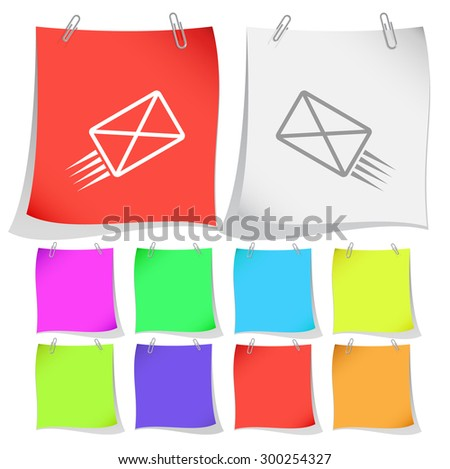 send mail. Vector note papers. - stock vector