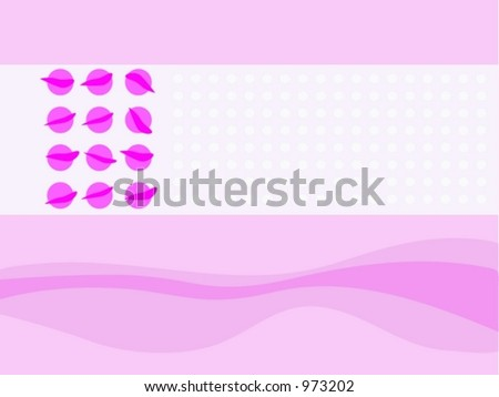 Sensual Background Template - stock vector