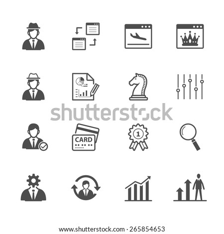 SEO and development icons - stock vector