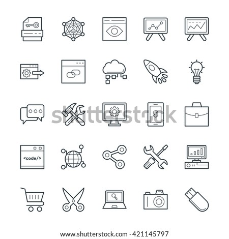 SEO and Internet Marketing Cool Vector Icons 1 - stock vector