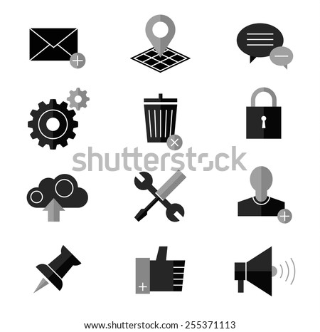 SEO and internet vector icon set - stock vector