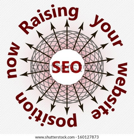 SEO concept raising your website position design illustration - stock vector