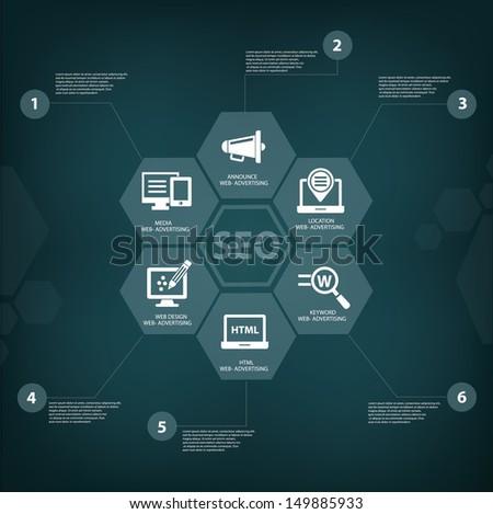 Seo concept,vector - stock vector