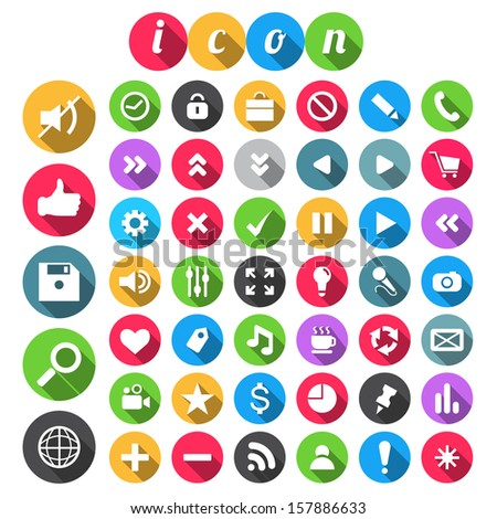 SEO Icon set, vector illustration. - stock vector