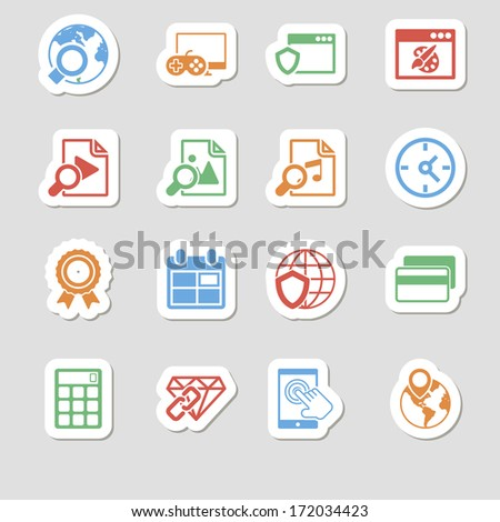 Seo Icons as Labes Vol 3 - stock vector