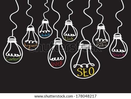 Seo Idea SEO Search Engine Optimization - stock vector
