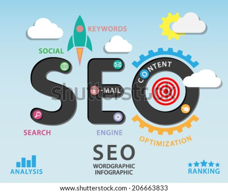 SEO infographic - stock vector