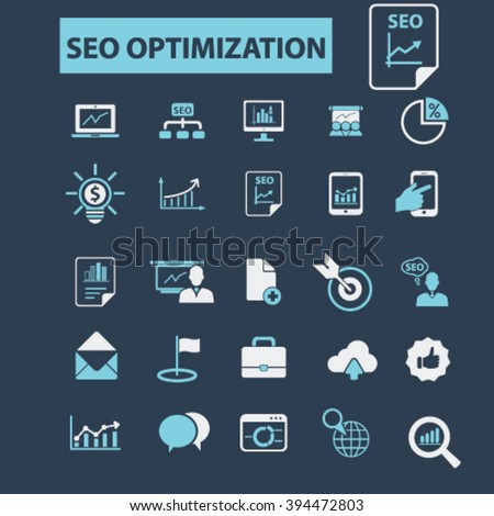 seo optimization icons  - stock vector