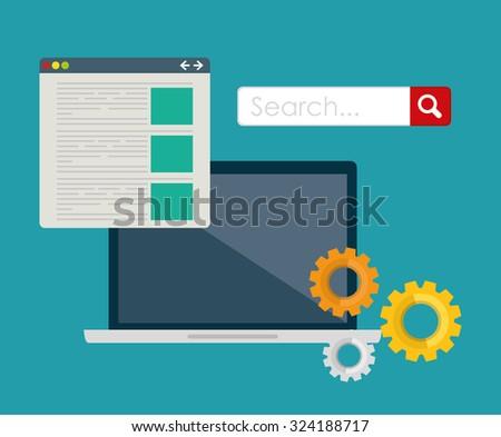 SEO Search Engine Optimization design, vector illustration. - stock vector