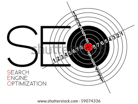 SEO - Search Engine Optimization poster for your web - stock vector