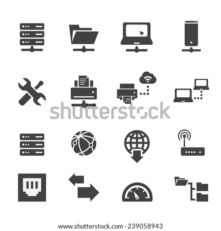server icon - stock vector